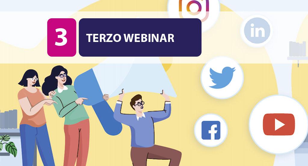 """17 MAGGIO – TERZO WEBINAR – Il marketing digitale per un """"cambio di passo"""" nelle piccole imprese."""